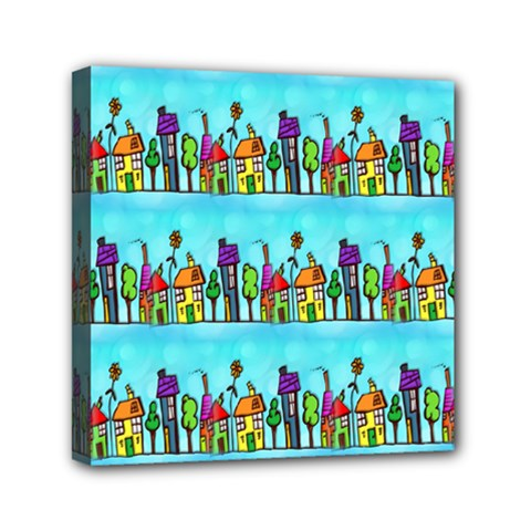 Colourful Street A Completely Seamless Tile Able Design Mini Canvas 6  X 6  by Nexatart