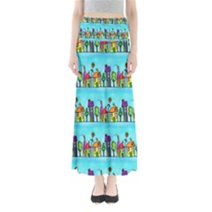 Colourful Street A Completely Seamless Tile Able Design Maxi Skirts