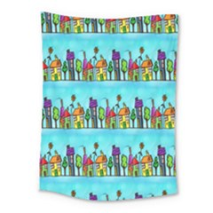 Colourful Street A Completely Seamless Tile Able Design Medium Tapestry