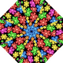 Colourful Snowflake Wallpaper Pattern Hook Handle Umbrellas (medium) by Nexatart