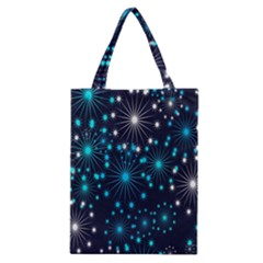 Digitally Created Snowflake Pattern Background Classic Tote Bag by Nexatart