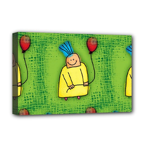 Party Kid A Completely Seamless Tile Able Design Deluxe Canvas 18  X 12