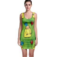 Party Kid A Completely Seamless Tile Able Design Sleeveless Bodycon Dress by Nexatart