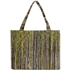 Bamboo Trees Background Mini Tote Bag by Nexatart