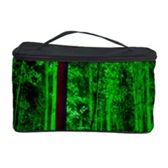 Spooky Forest With Illuminated Trees Cosmetic Storage Case by Nexatart