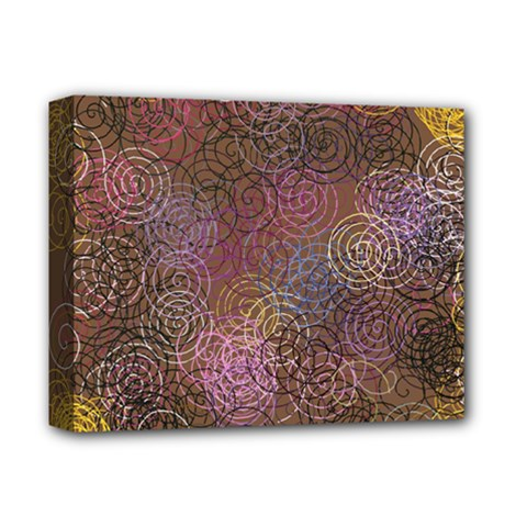 2000 Spirals Many Colorful Spirals Deluxe Canvas 14  X 11