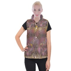 2000 Spirals Many Colorful Spirals Women s Button Up Puffer Vest