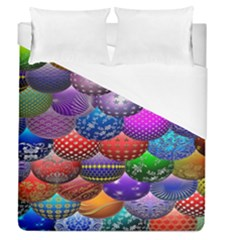 Fun Balls Pattern Colorful And Ornamental Balls Pattern Background Duvet Cover (queen Size) by Nexatart