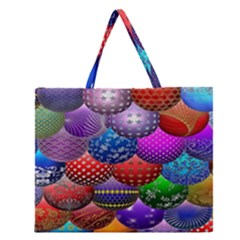 Fun Balls Pattern Colorful And Ornamental Balls Pattern Background Zipper Large Tote Bag by Nexatart