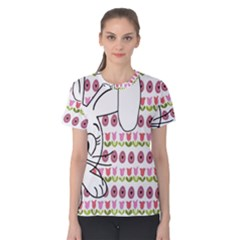 Easter Bunny  Women s Cotton Tee