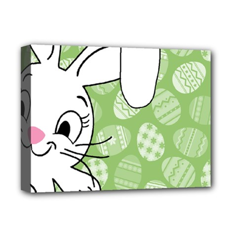 Easter Bunny  Deluxe Canvas 16  X 12   by Valentinaart
