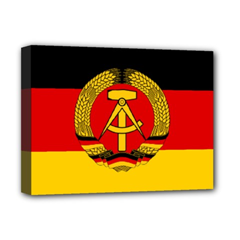 Flag Of East Germany Deluxe Canvas 16  X 12   by abbeyz71