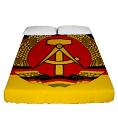 Flag Of East Germany Fitted Sheet (queen Size) by abbeyz71