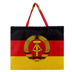 Flag Of East Germany Zipper Large Tote Bag