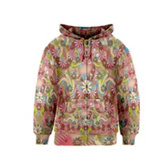 Jungle Life And Paradise Apples Kids  Zipper Hoodie by pepitasart