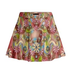 Jungle Life And Paradise Apples Mini Flare Skirt by pepitasart