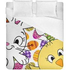 Easter Bunny And Chick  Duvet Cover (california King Size)
