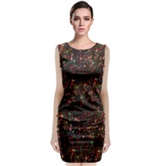 Cu Xmas Tree Sleeveless Velvet Midi Dress