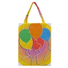 Birthday Party Balloons Colourful Cartoon Illustration Of A Bunch Of Party Balloon Classic Tote Bag by Nexatart