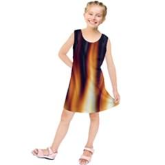 Dark Flame Pattern Kids  Tunic Dress