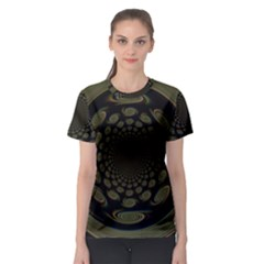 Dark Portal Fractal Esque Background Women s Sport Mesh Tee