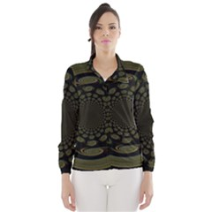 Dark Portal Fractal Esque Background Wind Breaker (women)
