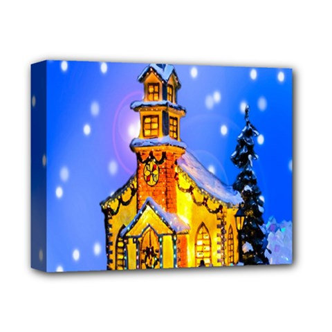 Winter Church Deluxe Canvas 14  X 11  by Nexatart