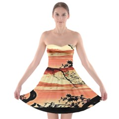 Autumn Song Autumn Spreading Its Wings All Around Strapless Bra Top Dress by Nexatart