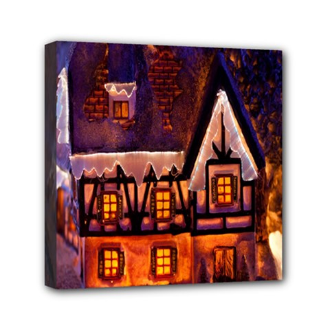 House In Winter Decoration Mini Canvas 6  X 6  by Nexatart