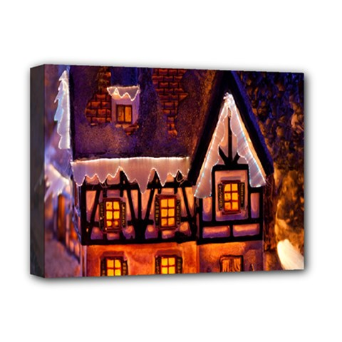 House In Winter Decoration Deluxe Canvas 16  X 12