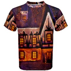 House In Winter Decoration Men s Cotton Tee