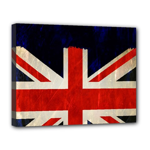 Flag Of Britain Grunge Union Jack Flag Background Canvas 14  X 11  by Nexatart