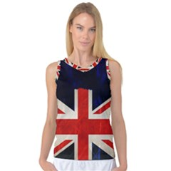 Flag Of Britain Grunge Union Jack Flag Background Women s Basketball Tank Top