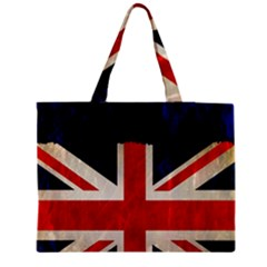 Flag Of Britain Grunge Union Jack Flag Background Medium Tote Bag