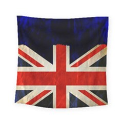Flag Of Britain Grunge Union Jack Flag Background Square Tapestry (small) by Nexatart