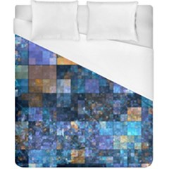 Blue Squares Abstract Background Of Blue And Purple Squares Duvet Cover (california King Size)