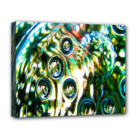 Dark Abstract Bubbles Deluxe Canvas 20  X 16   by Nexatart