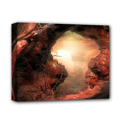 3d Illustration Of A Mysterious Place Deluxe Canvas 14  X 11  by Nexatart