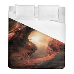 3d Illustration Of A Mysterious Place Duvet Cover (full/ Double Size) by Nexatart