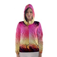 Floral Frame Surrealistic Hooded Wind Breaker (women)