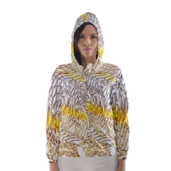 Abstract Composition Digital Processing Hooded Wind Breaker (women)