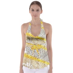 Abstract Composition Digital Processing Babydoll Tankini Top
