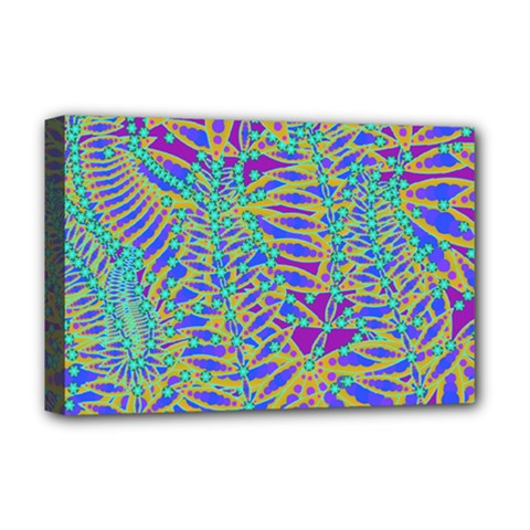 Abstract Floral Background Deluxe Canvas 18  X 12   by Nexatart