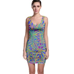 Abstract Floral Background Sleeveless Bodycon Dress by Nexatart