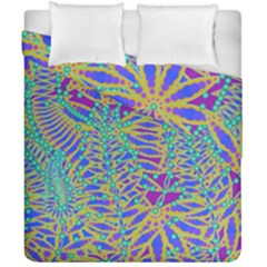 Abstract Floral Background Duvet Cover Double Side (california King Size) by Nexatart