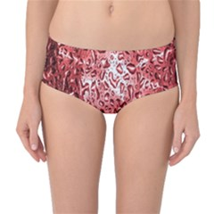 Water Drops Red Mid Waist Bikini Bottoms by Nexatart