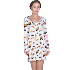 Sushi Lover Long Sleeve Nightdress by tarastyle