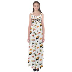 Sushi Lover Empire Waist Maxi Dress by tarastyle
