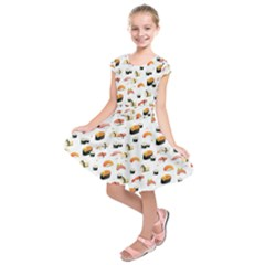Sushi Lover Kids  Short Sleeve Dress