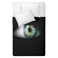 Eye On The Black Background Duvet Cover Double Side (single Size) by Nexatart